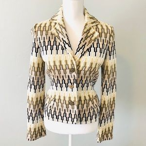 Missoni Jacket Blazer Knit Gold & Brown